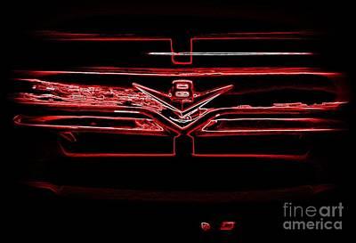 Photograph - Neon Truck Grill by Susan Garren