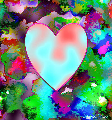 Painting - Neon Valentine by Jamie Frier