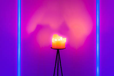 Photograph - Neon Vs Candle by Semmick Photo