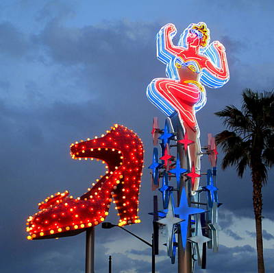 Photograph - Neon Woman And Slipper by Randall Weidner