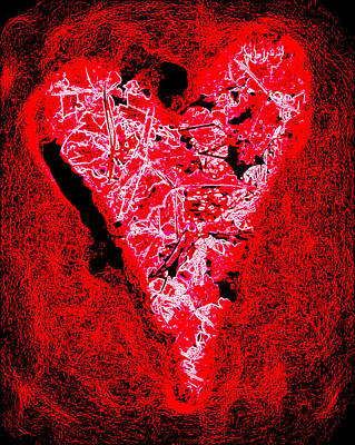 Photograph - Neon Yard Ornament Heart by Heidi Manly