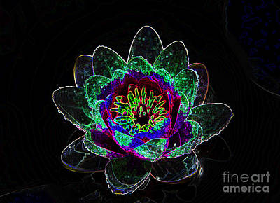 Neonflower Art Print