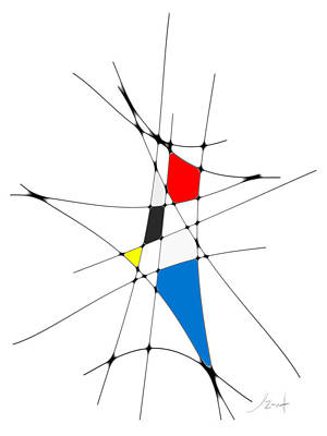 Digital Art - neoplasticism 11 I by John WR Emmett