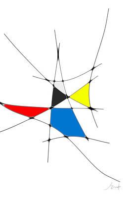Digital Art - neoplasticism 11 IV by John WR Emmett