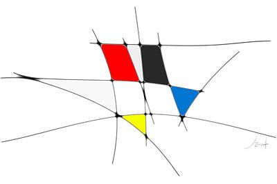 Digital Art - neoplasticism 11 VI by John WR Emmett
