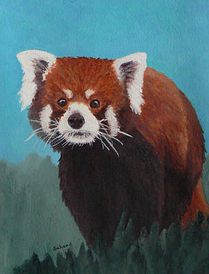 Art Print featuring the painting Nepalese Forest Dweller by Margaret Saheed