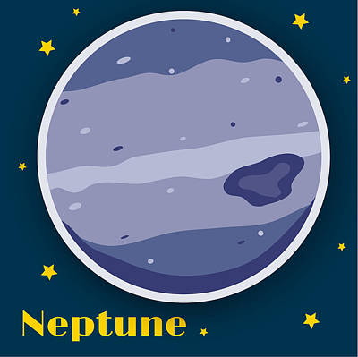 Science Fiction Royalty-Free and Rights-Managed Images - Neptune by Christy Beckwith