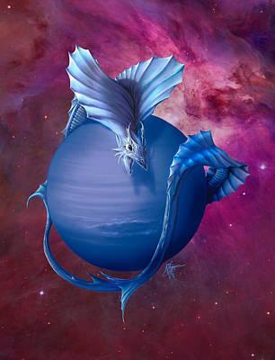 Neptune Dragon Art Print