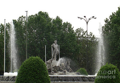 Photograph - Neptune Fountain In Madrid by Deborah Smolinske