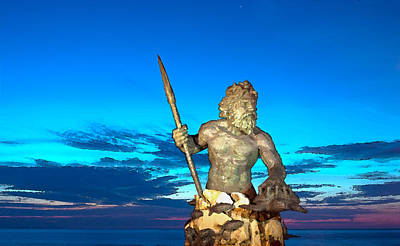 Digital Art - Neptune Illuminted At Blue Hour by Steven Barrows