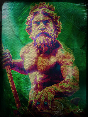 Digital Art - Neptune In Atlantis by Absinthe Art By Michelle LeAnn Scott