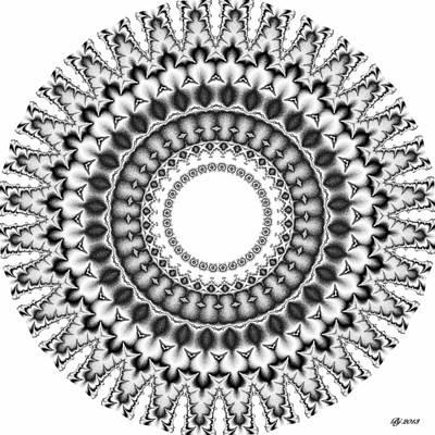 Digital Art - Neptune Turbinate Tile Print 6 by Brian Johnson