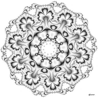 Digital Art - Neptune Turbinate Tile Print 9 by Brian Johnson