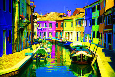 Digital Art - Neptune's Canal by Donna Corless