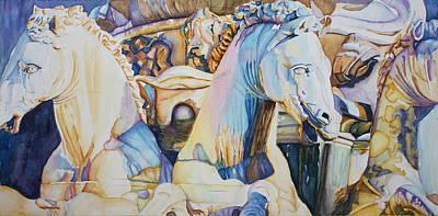Neptune's Sea Horses - Florence Art Print