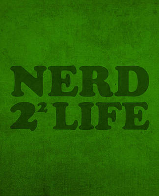 Mixed Media - Nerd 4 Life Math Formula Humor Poster by Design Turnpike