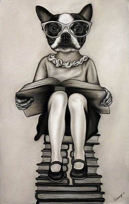 Contemporary Surrealism Drawing - Nerd by Courtney Kenny Porto