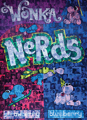 Bill Nye The Science Guy Painting - Nerds by Brent Andrew Doty