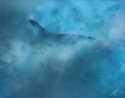 Painting - Nereid Or Fin Whale Off Of Newport Beach by Robin Street-Morris