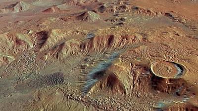 Stereo Photograph - Nereidum Mountains by European Space Agency/dlr/fu Berlin (g. Neukum)