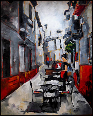 Painting - Nerja Spain by Vickie Warner