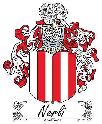 Nerli Coat Of Arms Italian Art Print