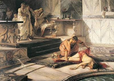 Nero And Agrippina Art Print by Antonio Rizzi