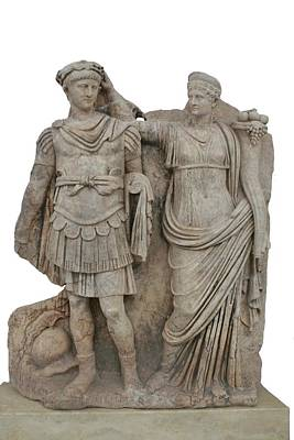 Aphrodisias Photograph - Nero And His Mother Agrippina by Tracey Harrington-Simpson