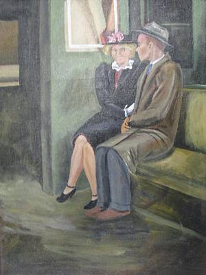 Herron Painting - Nervously Awaiting by Florence Smithburn