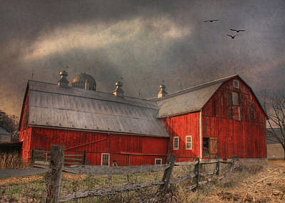 Nescopeck Duck Barn Art Print by Lori Deiter