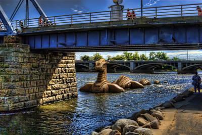 Nessie In The Grand Art Print