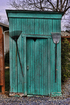 Shit Wall Art - Photograph - Nessy The Outhouse by Lee Dos Santos