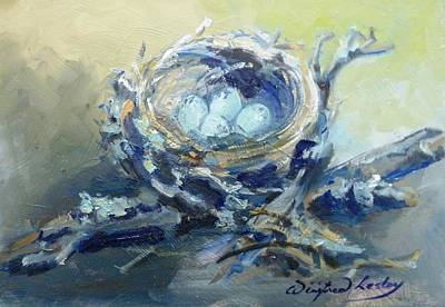 Painting - Nest #1 by Winifred Lesley