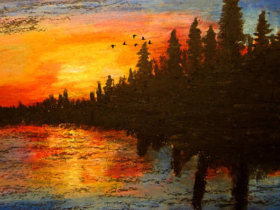 North American Wildlife Mixed Media - Nesting Area Relinquished by R Kyllo