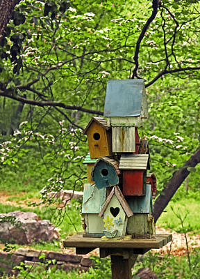 Birdhouse Photograph - Nesting by Don Spenner