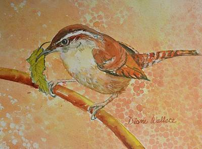 Carolina Wren Painting - Nesting Material by Diane Wallace
