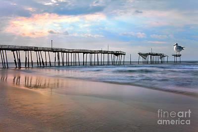 Frisco Pier Photograph - Nesting On Broken Dreams - Outer Banks by Dan Carmichael
