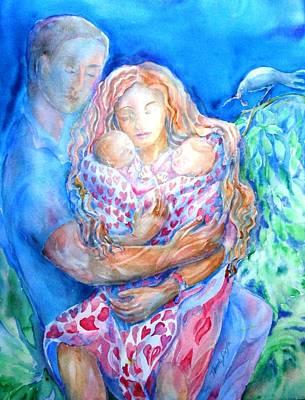 Nesting Pair  Art Print by Trudi Doyle