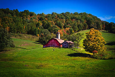 nestled in the hills of West Virginia Art Print
