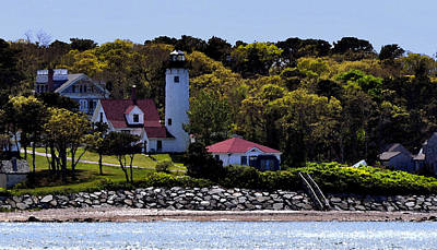 New England Lighthouse Painting - Nestled In The Trees by Kirt Tisdale