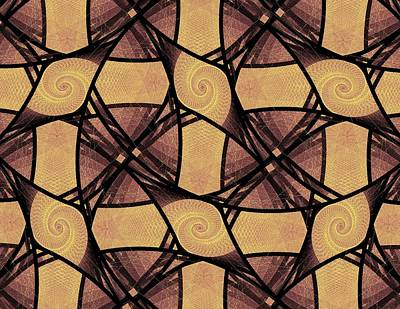 Geometrical Mixed Media - Net by Anastasiya Malakhova
