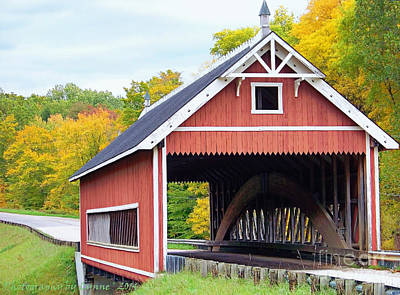 Photograph - Netcher Road Covered Bridge by Gena Weiser