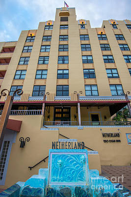Netherland Photograph - Netherland Hotel South Beach Art Deco District  by Ian Monk