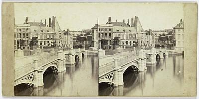 Netherlands Drawing - Netherlands, Amsterdam, The Netherlands, Orange Bridge by Artokoloro