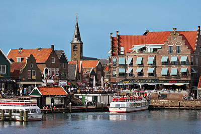 Red Roof Photograph - Netherlands, Edam-volendam, View by Miva Stock