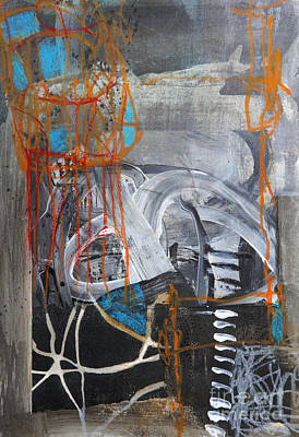 Abstract Collage Mixed Media - Network by Elena Nosyreva