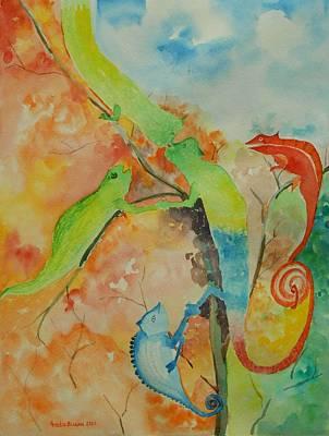 Networking Art Print by Geeta Biswas