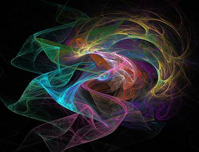 Neural Transmission Art Print by Barroa Artworks