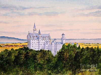 Painting - Neuschwanstein Castle Bavaria Germany by Bill Holkham