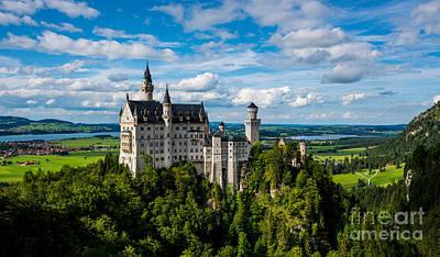 Neuschwanstein Castle Photograph - Neuschwanstein Castle - Bavaria - Germany by Gary Whitton
